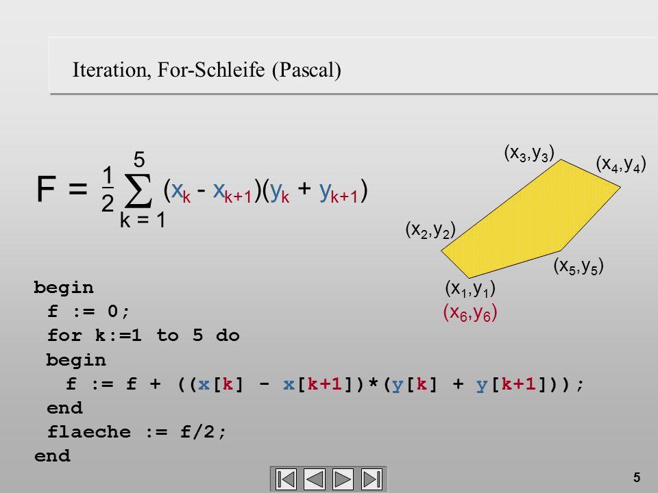f := f + ((x[k] - x[k+1])*(y[k] + y[k+1]));